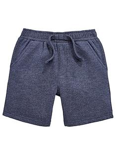 mini-v-by-very-boys-navy-marl-shorts