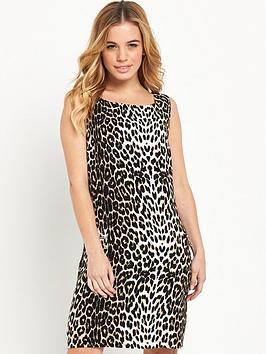 wallis-petite-animal-shift-dress