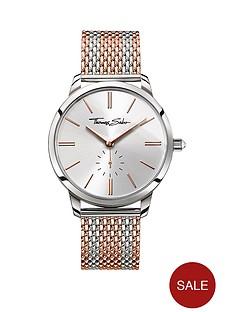 thomas-sabo-glam-spirit-silver-tone-dial-rose-accent-rose-striped-mesh-bracelet-ladies-watch
