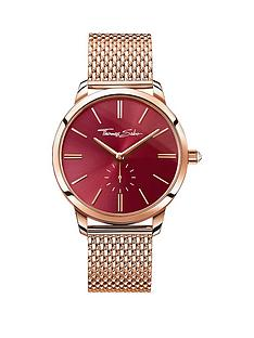 thomas-sabo-glam-spirit-red-dial-rose-tone-mesh-bracelet-ladies-watchnbspadd-item-ktjq4-to-basket-to-receive-free-bracelet-with-purchase-for-limited-time-only
