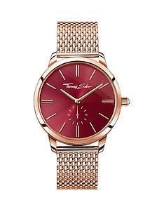thomas-sabo-glam-spirit-red-dial-rose-tone-mesh-bracelet-ladies-watchnbspplus-free-diamond-bracelet