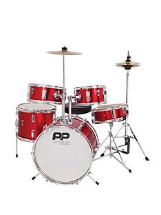pp-5-piece-junior-drum-kit-red