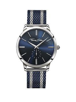 thomas-sabo-rebel-spirit-blue-dial-blue-striped-mesh-bracelet-mens-watch