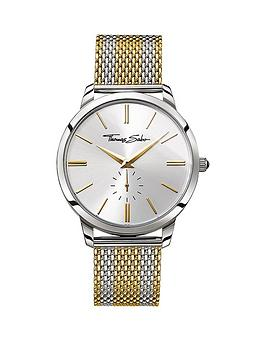 thomas-sabo-rebel-spirit-silver-tone-dial-two-tone-gold-mesh-mesh-bracelet-mens-watchnbspadd-item-ktjq4-to-basket-to-receive-free-bracelet-with-purchase-for-limited-time-only