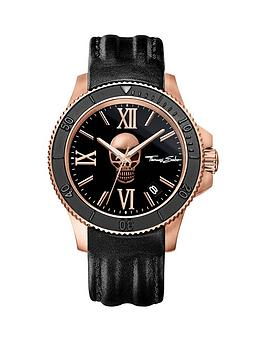 thomas-sabo-rebel-icon-black-dial-rose-skull-leather-strap-mens-watch