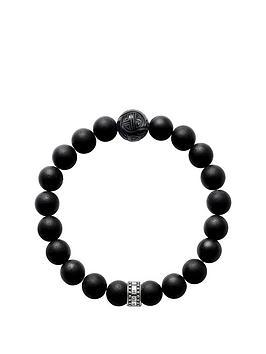 thomas-sabo-thomas-sabo-sterling-silver-obsidian-semi-precious-stretch-bracelet