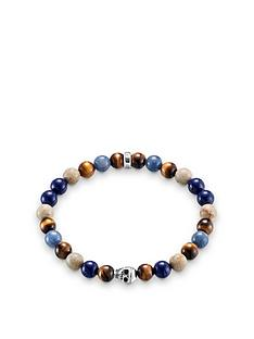thomas-sabo-sterling-silver-skull-mixed-semi-precious-stretch-bracelet