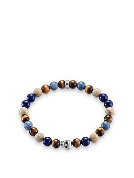 thomas-sabo-thomas-sabo-sterling-silver-skull-mixed-semi-precious-stretch-bracelet