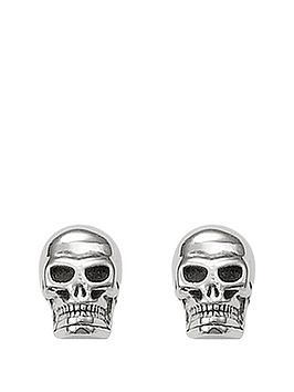 thomas-sabo-sterling-silver-skull-earrings