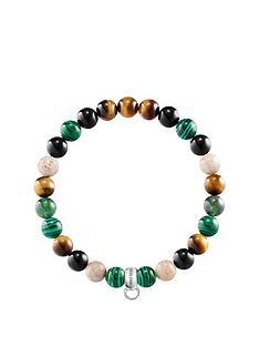 thomas-sabo-semi-precious-bead-green-mix-stretch-charm-bracelet