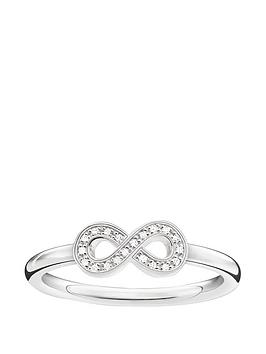 thomas-sabo-sterling-silver-diamond-set-infinity-ringnbspplus-free-diamond-bracelet
