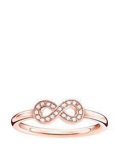thomas-sabo-sterling-silver-rose-gold-plate-diamond-set-infinity-ring
