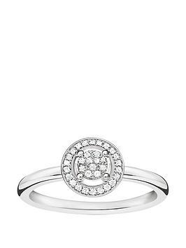 thomas-sabo-sterling-silver-diamond-set-halo-ring