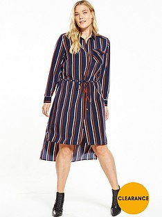 v-by-very-curve-longline-channel-through-striped-shirt-dress