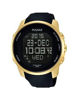 pulsar-pulsar-black-digi-dial-black-silicone-strap-mens-watch