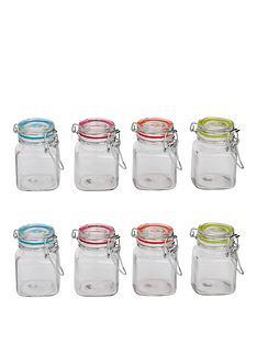 sabichi-clip-top-8-piece-glass-cannister-set