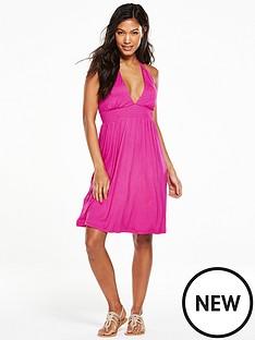 v-by-very-babydoll-jersey-halter-beach-dress