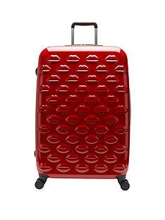 lulu-guinness-lips-4-wheel-spinner-large-case