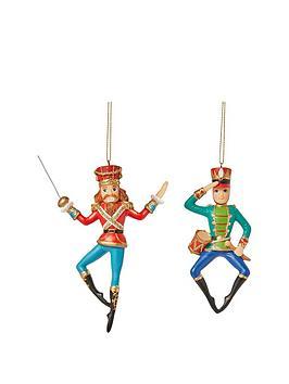 gisela-graham-nutcracker-soldier-resin-christmas-tree-decorations-set-of-2