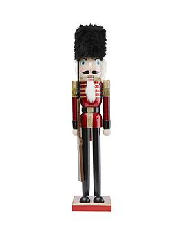 gisela-graham-painted-wood-nutcracker-soldier-christmas-ornament
