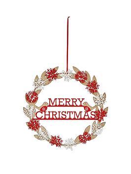 gisela-graham-wooden-snowflake-and-birds-wreath