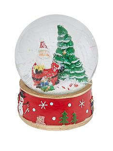gisela-graham-santa-glass-snow-dome-christmas-decoration