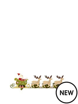 gisela-graham-tin-santa-slight-christmas-tea-light-holder