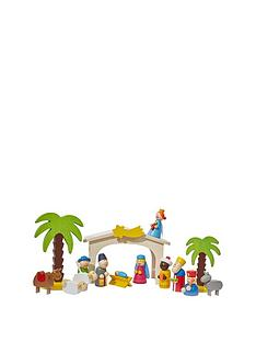 gisela-graham-wooden-kids-christmas-nativity-scene-set-16-piece