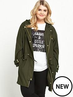 so-fabulous-drawstring-lightweight-parker-green