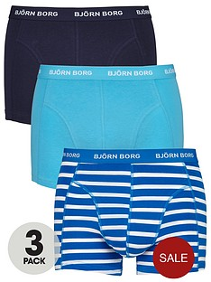 bjorn-borg-3pk-plainstripe-trunks