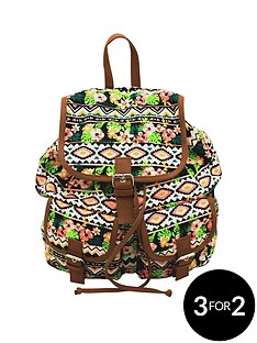 lili-b-canvas-backpack-aztec-print