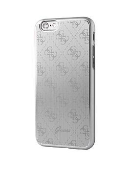 guess-guess-4g-aluminum-plate-hard-case-silver-iphone-66s