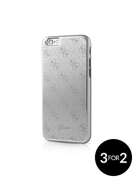 guess-guess-4g-aluminum-plate-hard-case-silver-iphone-66s-plus