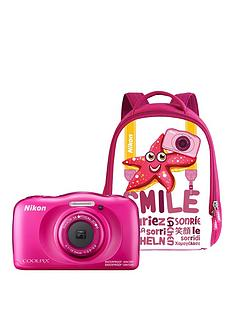 nikon-coolpix-w100-pink-backpack-kit
