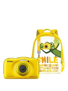 nikon-coolpix-w100nbspyellow-camera-with-backpack-kit