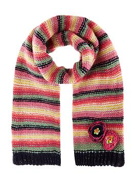 monsoon-rosette-flower-stripe-scarf