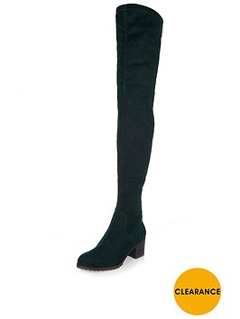 river-island-over-the-knee-boot-dark-green