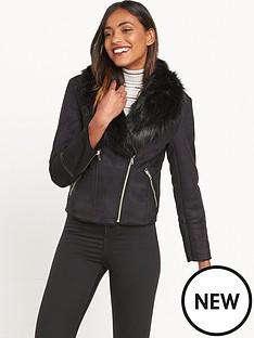 miss-selfridge-shearling-jacket-bermisnbsp--black