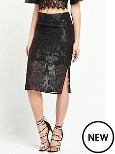 miss-selfridge-floral-sheer-pencil-skirt-black