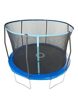 sportspower-easi-store-8ft-trampoline-with-enclosure-amp-bluegreen-flip-pad-frame
