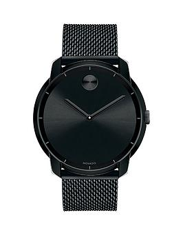 movado-bold-black-dial-black-stainless-steel-mesh-bracelet-mens-watch