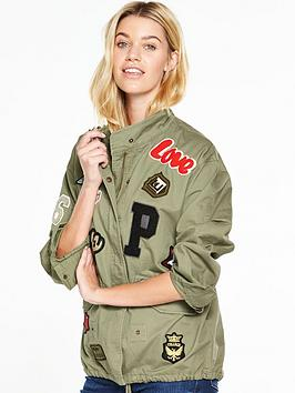 v-by-very-badge-detail-military-jacket