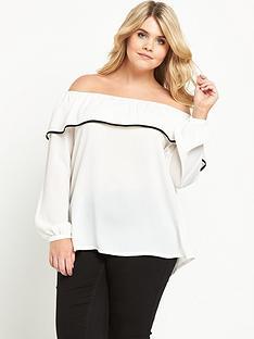 lovedrobe-curve-bardot-frill-blouse--nbspwhite