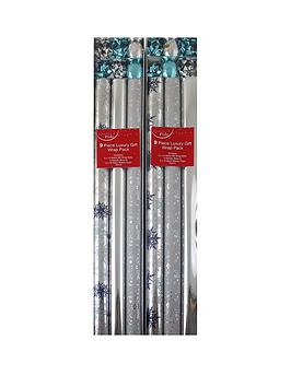 18-piece-silver-christmas-gift-wrap-bundle