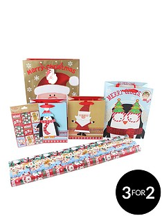 cute-children039s-8-piece-christmas-gift-wrap-bundle