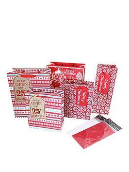17-piece-nordic-christmas-gift-wrap-bundle