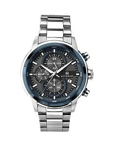 accurist-blue-dial-chronograph-stainless-steel-bracelet-watch