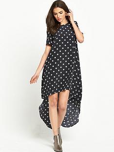 glamorous-short-sleeve-hi-lo-dress