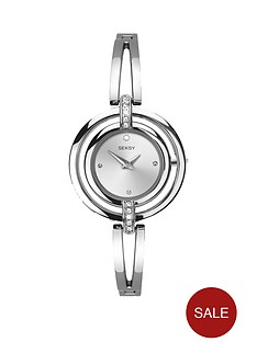 seksy-silver-tone-dial-bracelet-ladies-watch