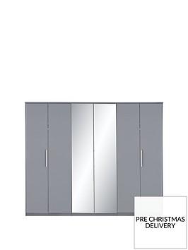 prague-gloss-6-door-mirrored-wardrobe